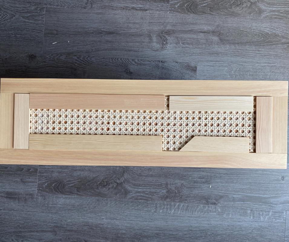 Ikea Tarva Hack - Wiener Geflecht ankleben