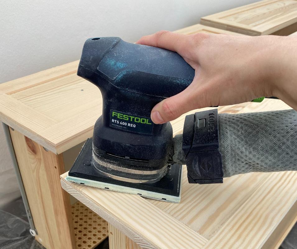 Ikea Tarva Hack - Fronten anschleifen